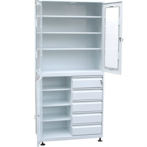Медицинский шкаф для медикаментов с ящиками купить недорого в Екатеринбурге